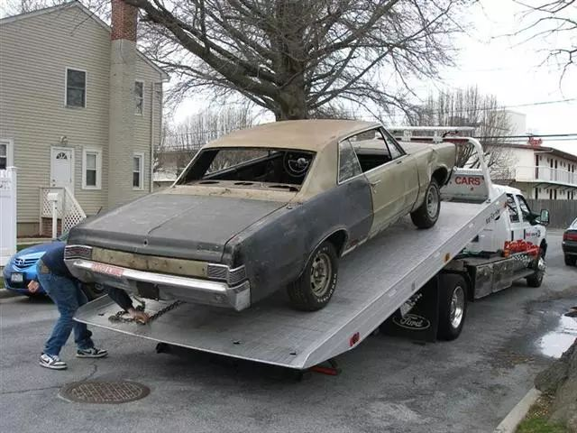1965 gto on flatbed