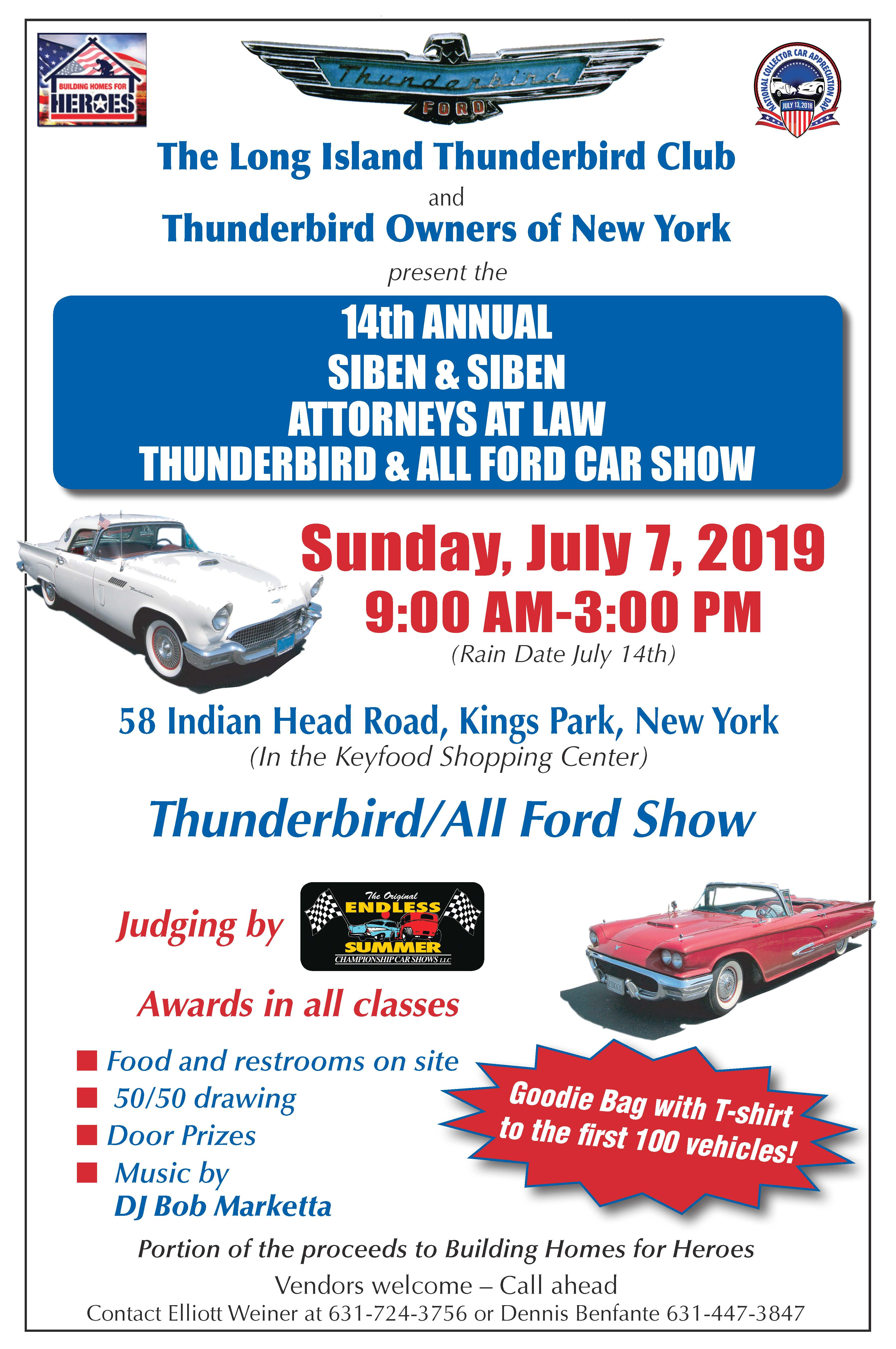 2019 Thunderbird and All Ford Car Show