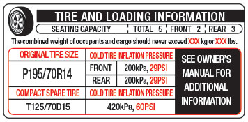 tire and loading information 1